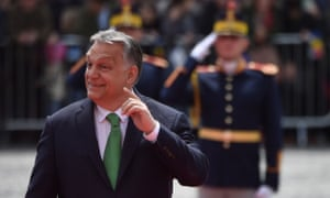 Orbán at an EU summit in Romania in May.