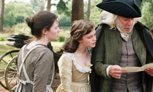 Pushed out of view ... Talulah Riley as Mary Bennet (left) and Carey Mulligan as Kitty with Donald Sutherland as Mr Bennet in the 2005 film of Pride and Prejudice.