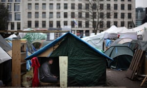 The Occupy protest camp in Finsbury Squarein 2012