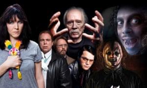 Primal fears: (from left) Alice Lowe, Pemberton and Shearsmith, John Carpenter, Matthew Holness, Slipknot's The Clown, and Kirk Hammett