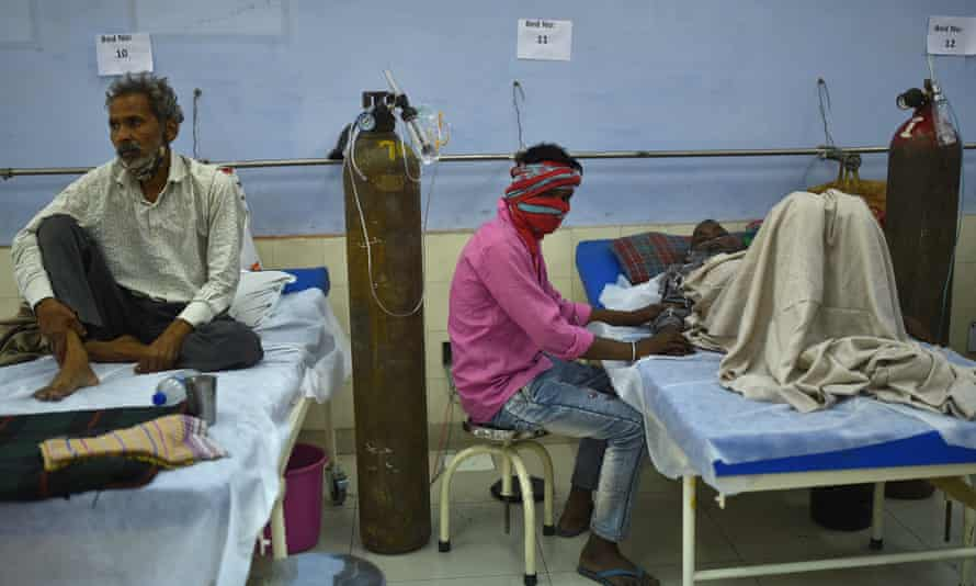 A Sikh Covid charity treatment centre in the outskirts of New Delhi, India, 24 May 2021.