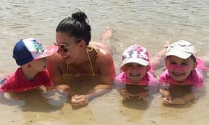 Hannah Baxter with her children Trey, Laianah and Aaliyah. The family died after being killed in a horrific car fire in Camp Hill, Brisbane on Wednesday.