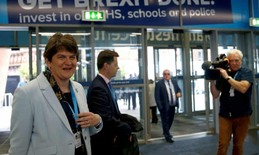 Arlene Foster at the Conservative party conference in Manchester.