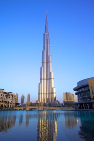 Dubai's Burj Khalifa is currently the world's tallest building at 828m.