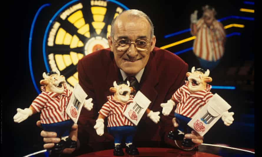'Have a look at what you would have won': Jim Bowen was known for his catchphrases on Bullseye.