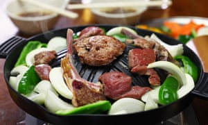 Japanese style lamb barbecue