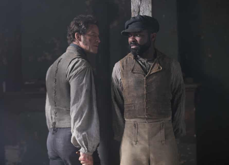 David Oyelowo with Dominic West in the BBC's Les Misérables.
