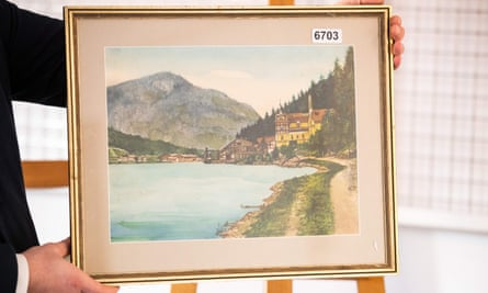 The authenticity of the watercolours attributed to Hitler has been questioned.