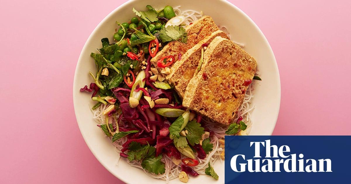 Vegan spring veg noodle salad with pickled cabbage food the guardian forumfinder Images