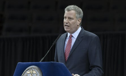 New York City mayor Bill de Blasio has called for government pension funds to consider divesting from 'funds that include assault weapon manufacturers'.