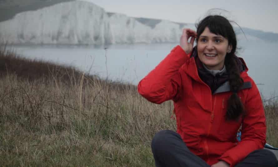 Nana Tomova spins a yarn by the Seven Sisters cliffs
