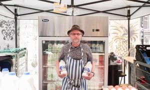 Soho Dairy stall holder Robin Smith