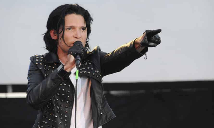 'I can name six names' … Corey Feldman performing with his band, the Angels.