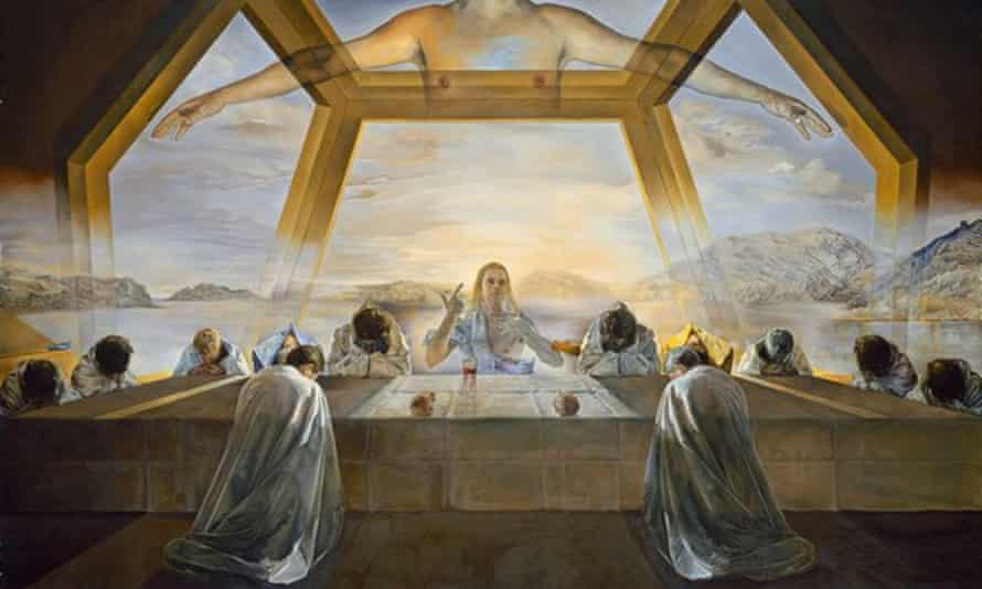 Salvador Dalí's The Sacrament of the Last Supper, 1955, with its geometric backdrop, hangs in the National Gallery of Art, Washington DC.