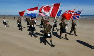 Commemoration of the D-Day n the Canadian landing zone of Juno Beach.