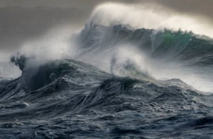 'Wild Seas', by Mark Dobson, at Gwithian, Cornwall, which has won the Coastal Views category