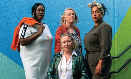 Inside Bitch is a new show devised by four women with experience of the penal system ... Clockwise from left, Jennifer Joseph, Lucy Edkins, Jade Small and TerriAnn Oudjar.