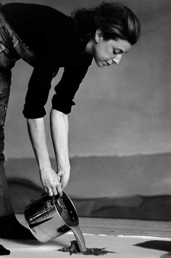 Helen Frankenthaler at work in 1969.