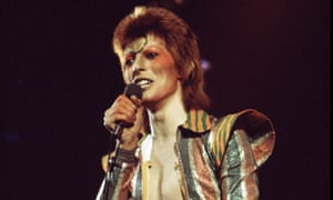 Bowie on his Ziggy Stardust/Aladdin Sane tour in 1973.
