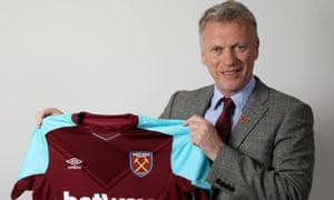 David Moyes poses for a portrait as he is unveiled as the new manager of West Ham United.