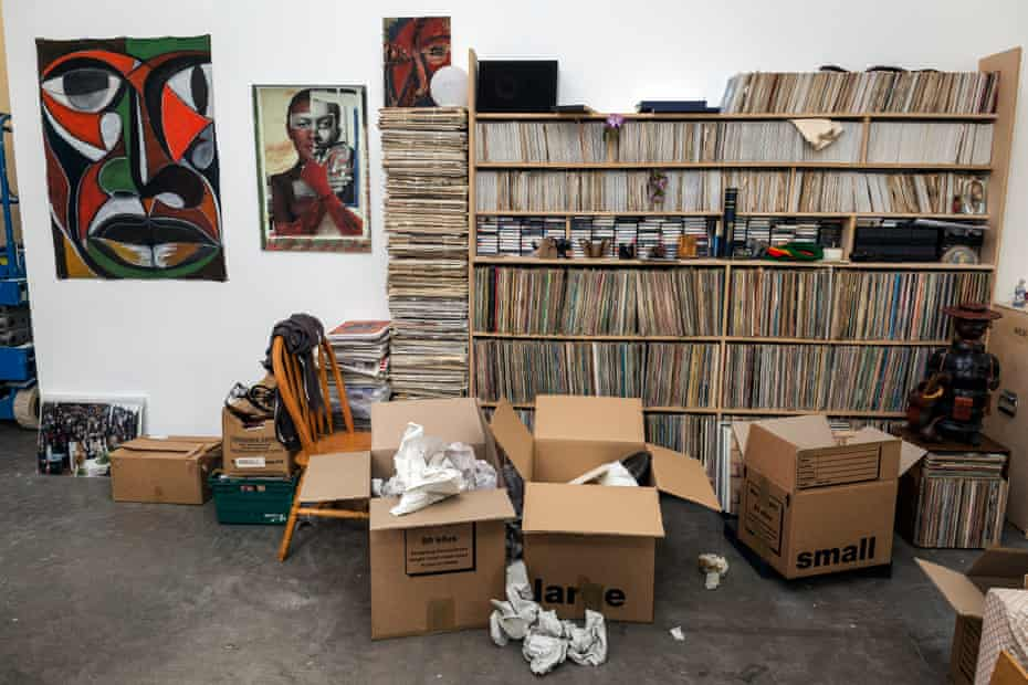'A living archive of untold black British history' … Burke's recreation of his front room at the Ikon Gallery, Birmingham.