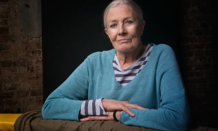 Blue steel … Vanessa Redgrave at the Almeida theatre where she is playing Queen Margaret opposite Ralph Fiennes's Richard III.