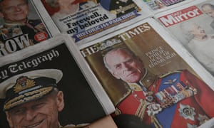 Tributes To Prince Philip, Duke Of EdinburghLONDON, ENGLAND - APRIL 10: A selection of the UK newspaper front pages paying tribute to Prince Philip, Duke Of Edinburgh who died at age 99 on April 10, 2021 in London, United Kingdom. The Queen announced the death of her beloved husband, His Royal Highness Prince Philip, Duke of Edinburgh. HRH passed away peacefully April 9th at Windsor Castle. (Photo by Hollie Adams/Getty Images)