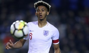Lloyd Kelly in action for England U-20s.