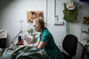 A Queensland Ballet wardrobe team member works on Tracy Grant Lord's designs for Dangerous Liaisons. Each of the main characters has up to five costume changes throughout the ballet
