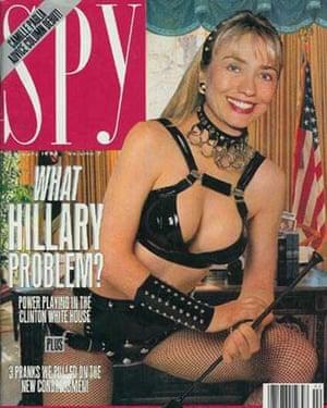 Hillary Clinton on Spy magazine in 1993.