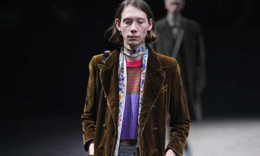 Gucci show during Milan menswear fashion week on 14 January.