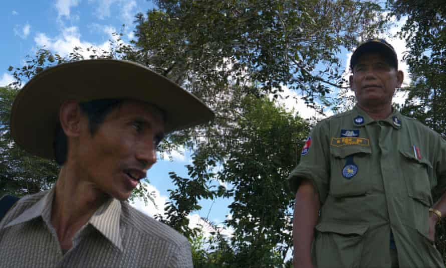Footage from I Am Chut Wutty shows Wutty during a forest protest in Cambodia