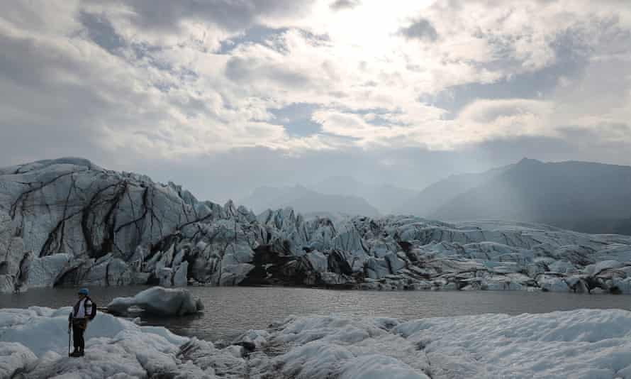 Cold on classics … Matanuska glacier near Palmer, Alaska.