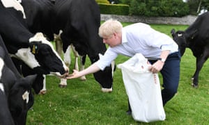 Boris Johnson in Lancashire on Saturday. One Tory member described him as a 'master of obfuscation'.
