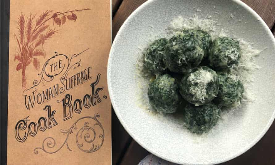 Spinach dumplings with the Woman Suffrage Cook Book