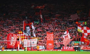 The Kop at Anfield for a Liverpool game