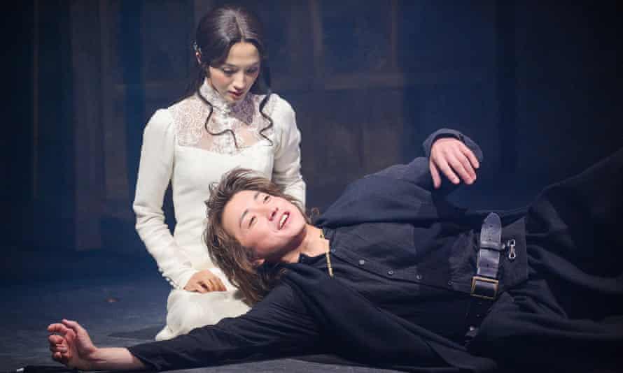 Hikari Mitsushima and Tatsuya Fujiwara in Hamlet at the Barbican, London, directed by Yukio Ninagawa in 2015.
