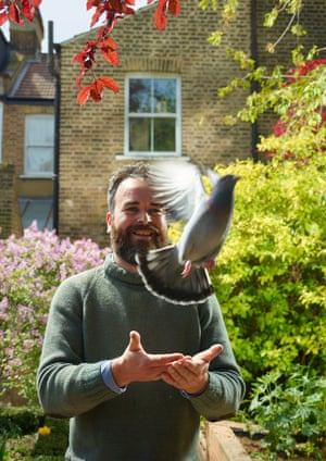 """They always returned in the end': Jon Day with Paul in his London garden."