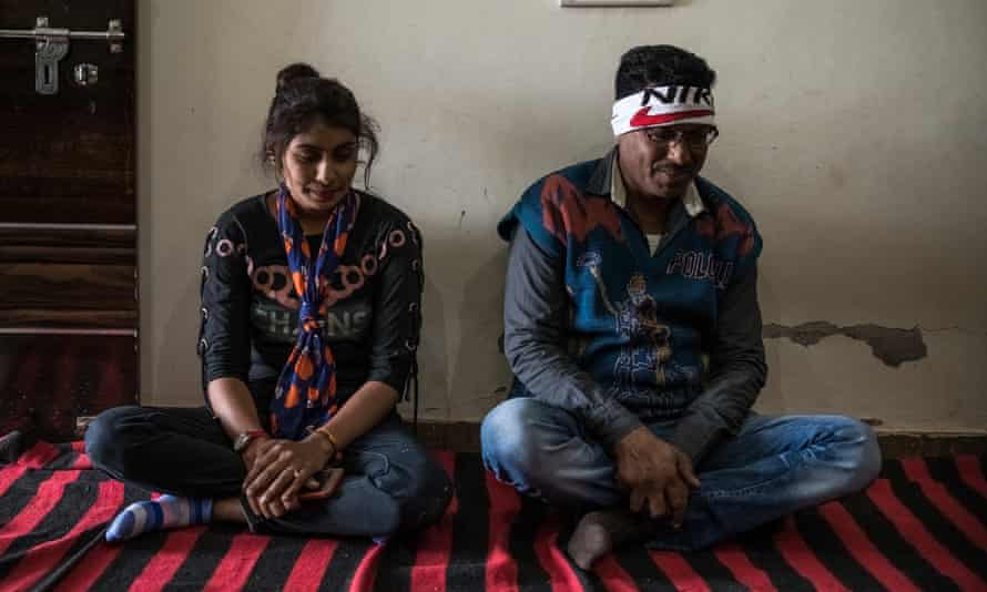 Balram Chauhan with one of his daughters