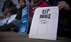 Protesters outside the Department of Health in London
