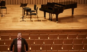 Alun Jones, at the new Stoller hall venue scheduled to open on Friday.