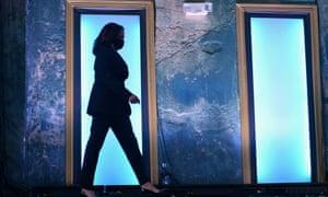 Kamala Harris arrives at the Biden-Harris event in Wilmington, Delaware.