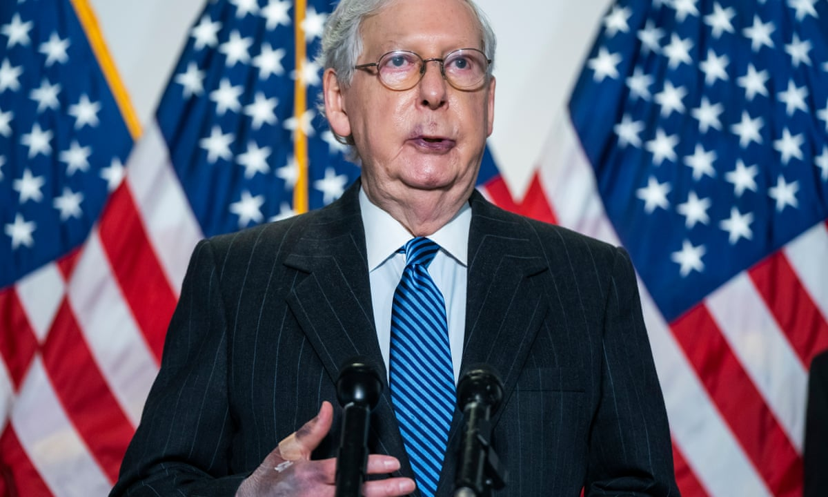 Mitch Mcconnell Says He Has No Health Concerns After Photos Show Bruising Us News The Guardian