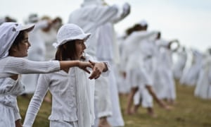 The gathering is based on the paneurhytmy dance - a system of physical musical exercises