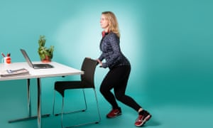 woman lunging on chair