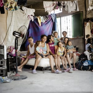 Loaiza Giraldo and her family in Venezuela