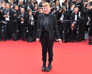 Andrea Arnold in Cannes, 2017.