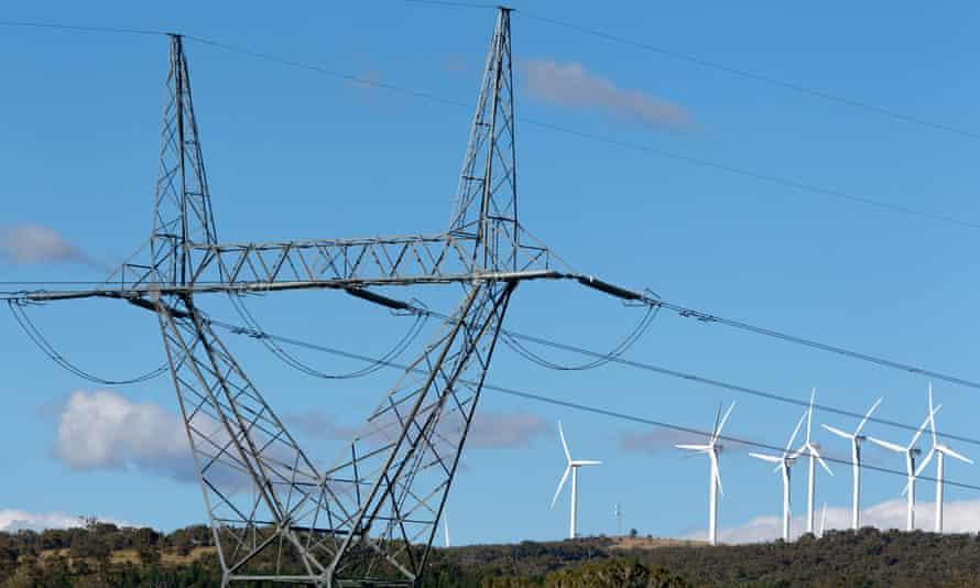 Capital Wind Farm in Bungendore, Australia