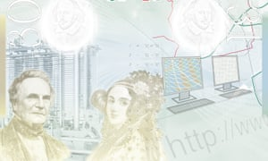Ada Lovelace shares her page with Charles Babbage.