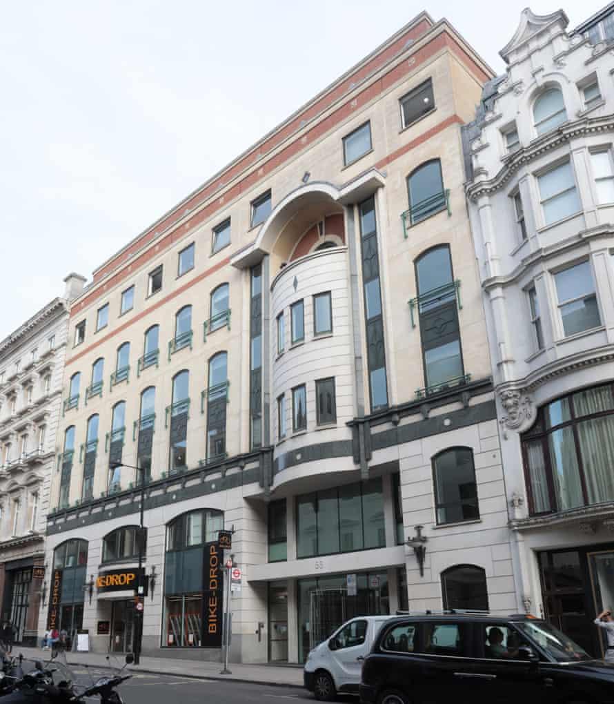 Conduit Street building in London W1